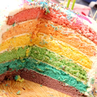 Thumbnail image for Somewhere over the rainbow… cake abides…